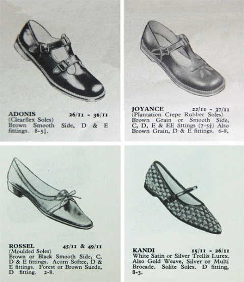 d7090b3e42 Clarks Shoes 1965 Catalogue showing individual children's shoes