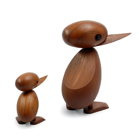 Original Teak Duck and Duckling by Danish designer Hans Bølling, 1959.