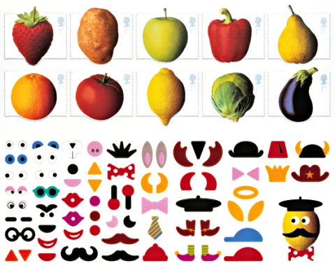 Fruit & Veg Stamps, Post Office Stamps, Fruit and Vegetable Stamps, Special Edition Stamps