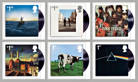 Pink Floyd Stamps, Royal Mail Stamps, Post Office Stamps, Royal Mail Pink Floyd Stamps, Special Edition,