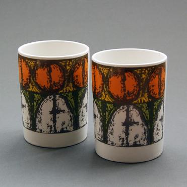 Crown Devon pots with abstract design